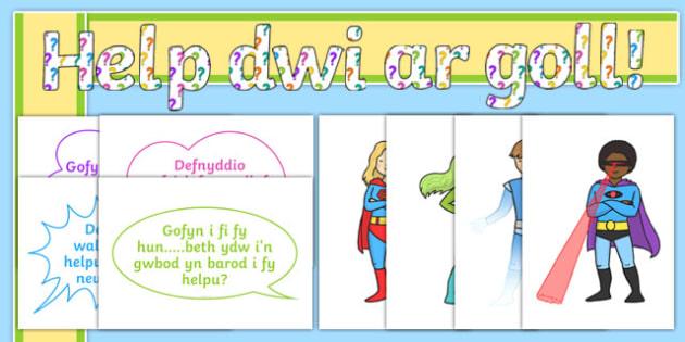Pecyn Archarwyr 'Help dwi ar goll! Beth gallaf wneud?' Display Pack-Welsh