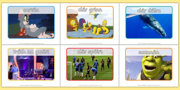 Television Programme Display Posters Gaeilge - Gaeilge, Irish, television, T.V., programmes, posters, photos