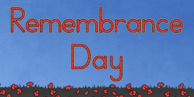 Remembrance Day Display Lettering - letters, displays, visual