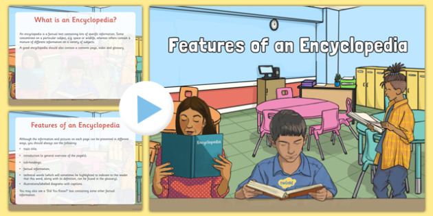 Features of an Encyclopedia Information PowerPoint