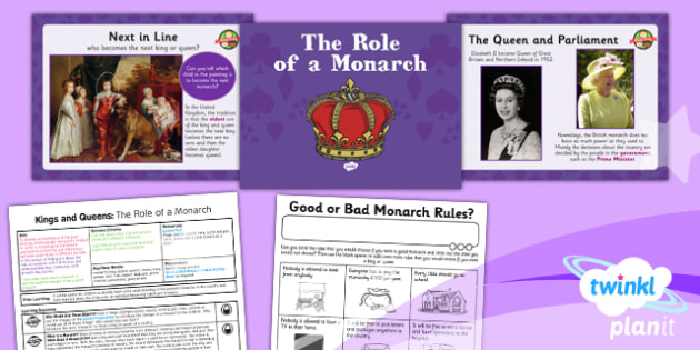 History: Kings and Queens: The Role of a Monarch KS1 Lesson Pack 1