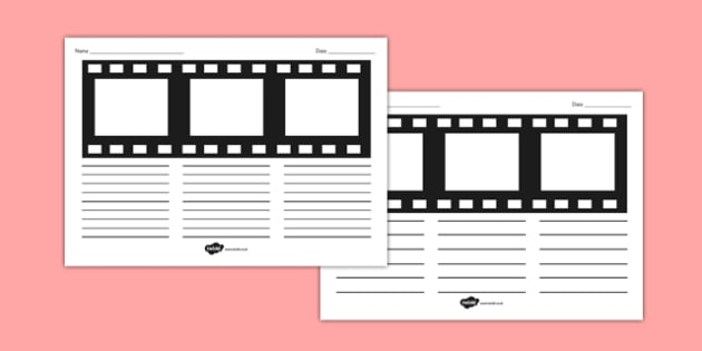 Movie Film Strip Storyboard Template - movie, film strip, storyboard, template