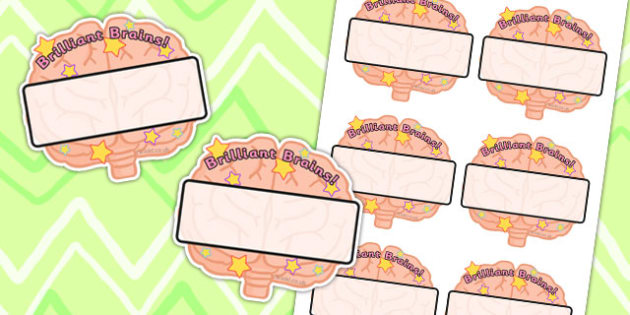Brilliant Brains Editable Self Registration Labels - Smart, Label