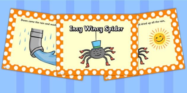 EYFS Incy Wincy Spider PowerPoint - nursery rhymes, rhyme, EYFS