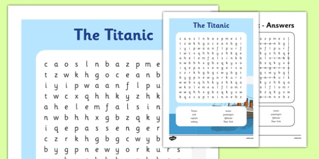 The Titanic Primary Resources Iceberg Ship White Page 1 – Titanic Worksheets