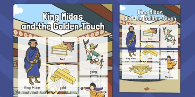 King Midas Vocabulary Mat - king midas, vocabulary, mat, midas