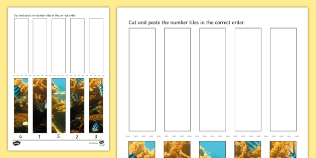 Great Barrier Reef Photo Number Sequencing Puzzle - australia