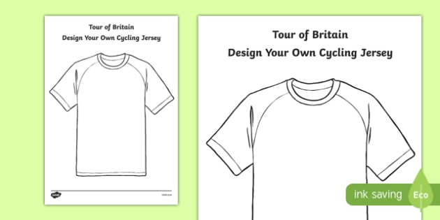 Tour of Britain: Design a Cycling Jersey Activity Sheet, worksheet