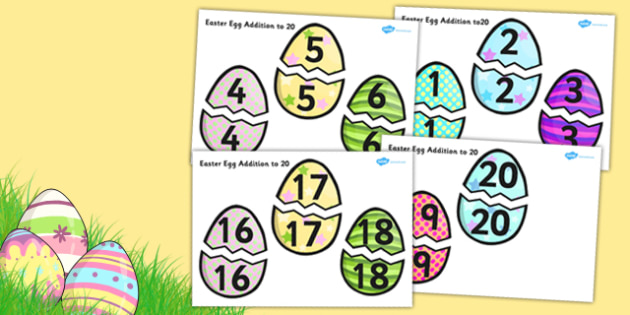 Easter Egg Addition Up to 20 Activity - easter egg, activity, add
