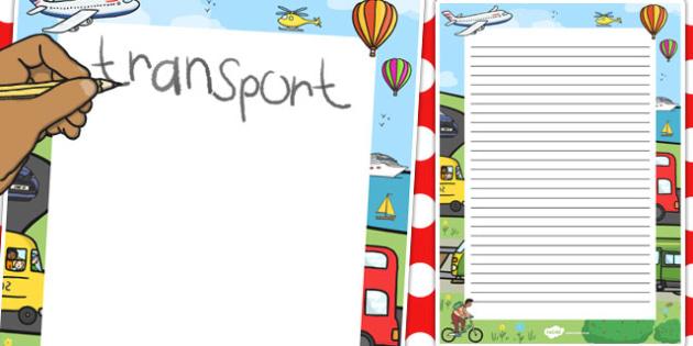 Transport Decorative Page Border - transport, page border, border