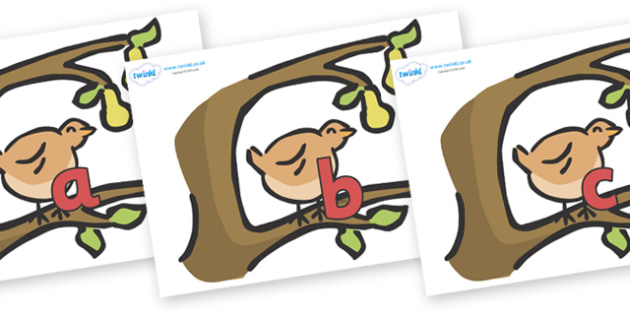 Phase 2 Phonemes on Partridge in a Pear Tree - Phonemes, phoneme, Phase 2, Phase two, Foundation, Literacy, Letters and Sounds, DfES, display