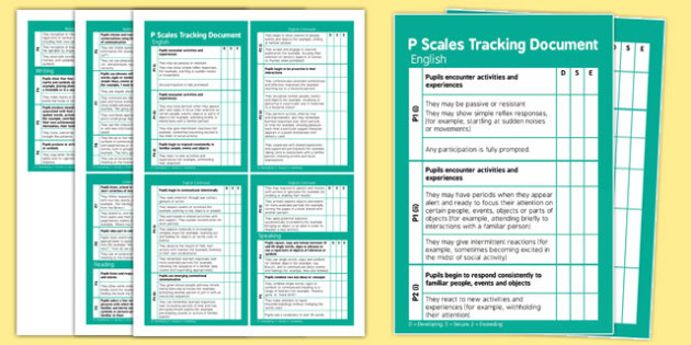 P Scales Tracking  English Pocket Book