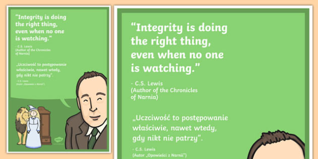 Do the Right Thing Motivational Poster Polish Translation - polish, motivational, poster