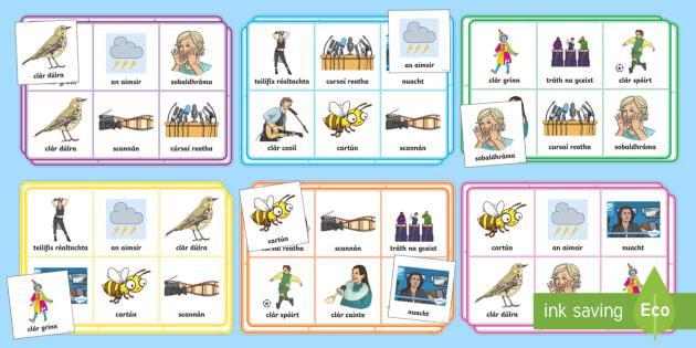Television Programmes Bingo Gaeilge - Cláir Teilifíse, programe, Games, Irish, vocabulary, foclóir, teilifís, cláir teilifíse, clár teilifís, tv, tv programmes,Irish