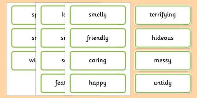 Describing Dinosaurs Word Cards - describe, describing, dinosaurs, word cards, word, cards
