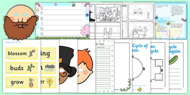 KS1 Spring Lesson Plan Ideas and Resource Pack - spring, KS1