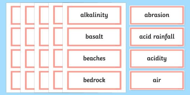 Beneath Our Feet Word Wall Display Cards - australia, Australian Curriculum, Beneath our Feet, science, Year 4, word wall, display