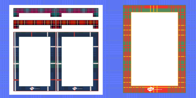Tartan Themed Editable Notes - tartan, notes, editable notes