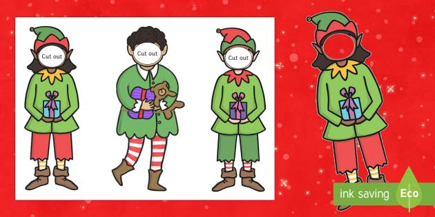 Make Yourself an Elf Face and Body Template - elf, Santa\'s Little Helper, christmas, elves,