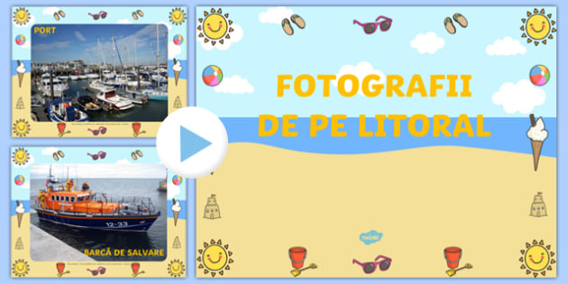 Fotografii de pe litoral - Prezentare PowerPoint - Fotografii de pe litoral, Prezentare PowerPoint - vară, vacanță, mare, litoral, vocabular, anotimpuri, materiale didactice, română, romana, material, material didactic