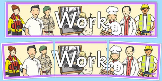 Work Display Banner - work, display banner, display, banner, work display