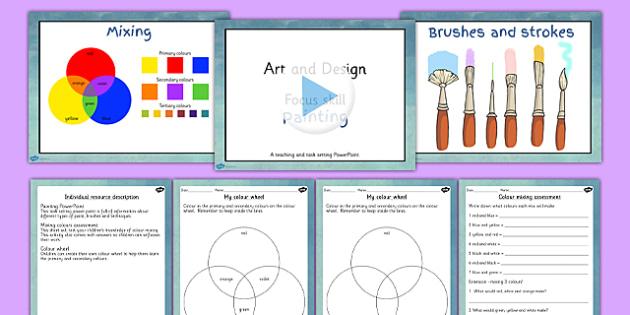 KS2 Art Painting Lesson Teaching Pack - packs, teach, lesson