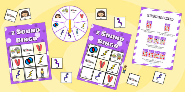 z Sound Bingo Game with Spinner - sounds, sound games, bingo