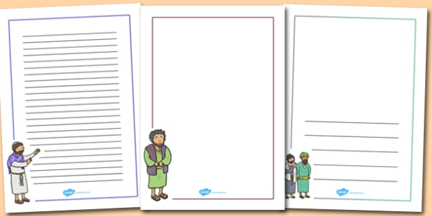 Zacchaeus the Tax Collector Bible Story Page Borders - border