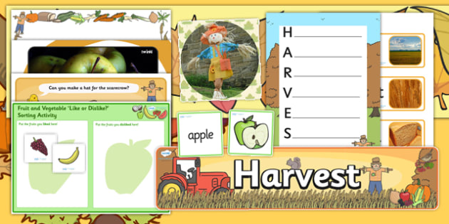 Teaching Assistant Harvest Display and Activity Pack - ta, pack