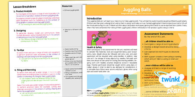 D&T: Juggling Balls LKS2 Planning Overview