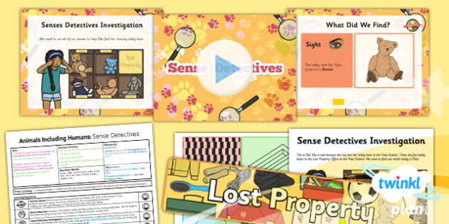 PlanIt - Science Year 1 - Animals Including Humans Lesson 3: Sense Detectives Lesson Pack