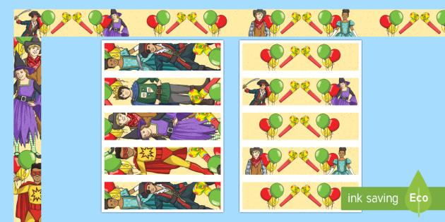 Fasching Rahmen zum Ausdrucken für die Klassenraumgestaltung - Fasching, Karnival, Rosenmontag , Feier
