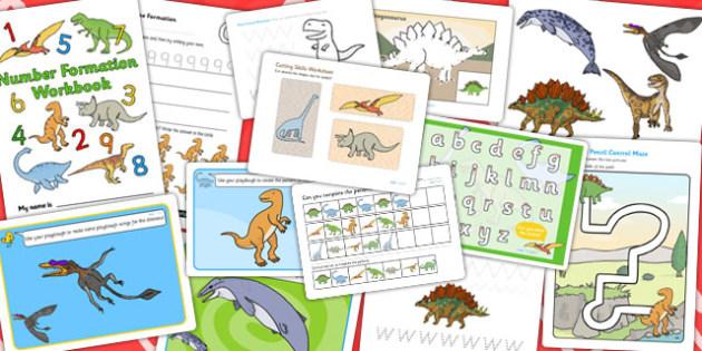 Dinosaur Themed Fine Motor Skills Resource Pack - activities