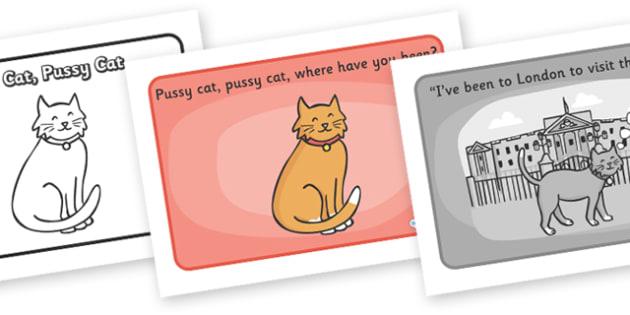Pussy Cat Pussy Cat Sequencing - Pussy Cat, Pussy Cat, nursery rhyme, rhyme, rhyming, nursery rhyme story, nursery rhymes, Pussy Cat Pussy Cat resources