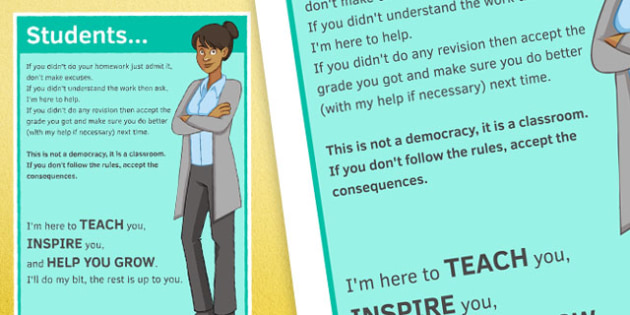 I'm Here to Teach, Inspire, Help You Grow Large Poster - here, help, teach, inspire, grow, poster, display