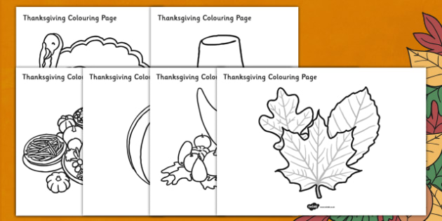 Thanksgiving Colouring Pages - colour, activity, activities