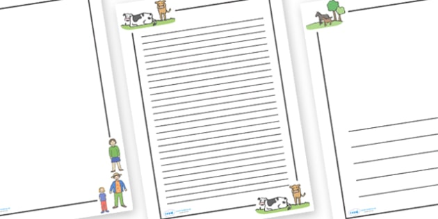 The Train Ride Page Borders - The Train Ride, June Crebbin, journey, transport, resources, rhyme, rhythm, tractor, story, story book, story book resources, story sequencing, story resources, Literacy, writing, page border, a4 border, template, writin