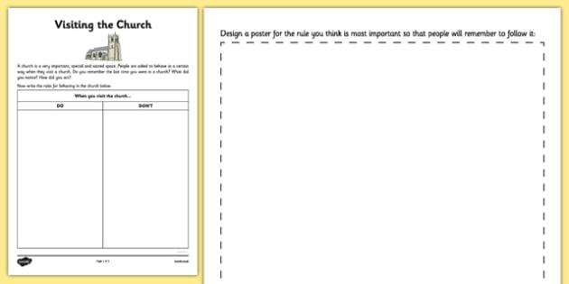 Behaving in the Church Activity Sheet - mass, church, Roman Catholic, behaving, activity sheet, sacraments, worksheet