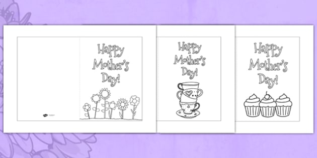 Mother's Day Card Templates Coloring - usa, Design, Mother's day card, Mother's day cards, Mother's day activity, Mother's day resource, card, card template,  colouring, fine motor skills