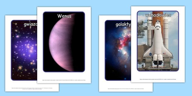 Plakaty ze zdjęciami Kosmos po polsku - planety, geografia