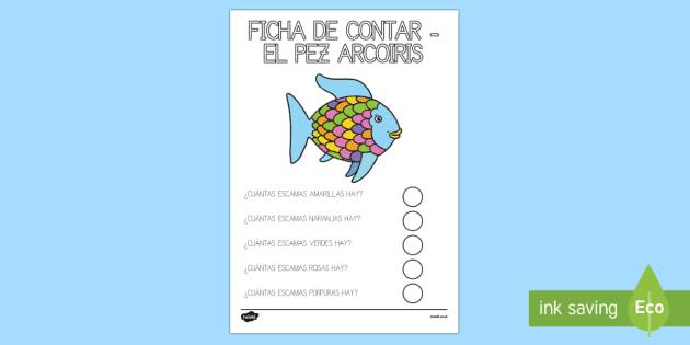 Contar escamas del pez arcoiris Ficha de actividad