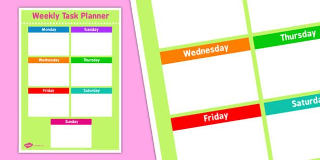 Weekly Task Planning Sheet - weekly, task, planning, sheet, plan
