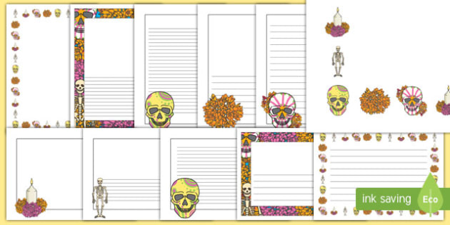 Day of the Dead Page Border Pack