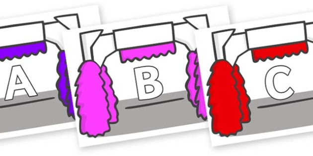 A-Z Alphabet on Car Wash - A-Z, A4, display, Alphabet frieze, Display letters, Letter posters, A-Z letters, Alphabet flashcards