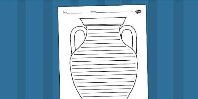 Ancient Greek Vase Writing Frame - ancient greece, greeks, write