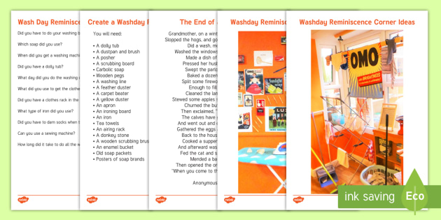 Wash Day Reminiscence Corner Resource Pack - Wall Displays, Create, Reminiscence, Ideas, Elderly Care, Dementia, Care Homes, Support, Activity Co