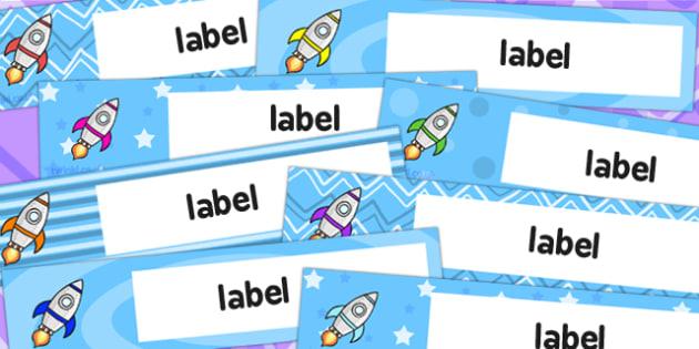 Rocket Themed Gratnells Tray Labels - australia, rocket, labels