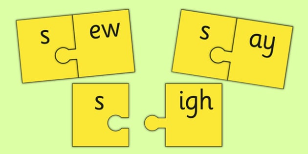 s and Vowel Production Jigsaw Cut Outs - s sound, sounds, jigsaw