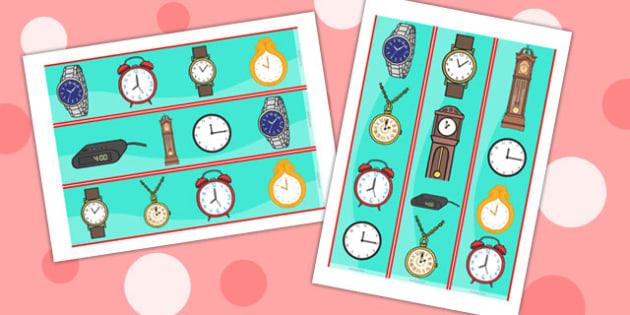 Clock Display Borders - clock, display, borders, display borders