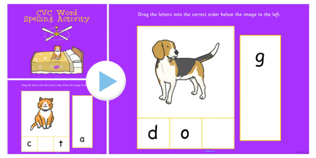 CVC Word Spelling Notebook Activity - cvc, word, spell, activity